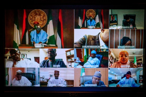 Buhari swears in 12 Permanent Secretaries