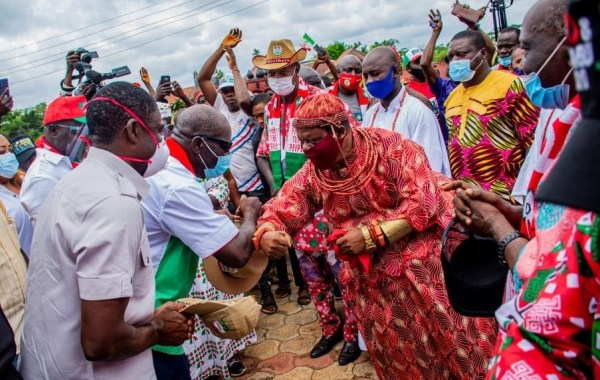 Obaseki receives royal blessings from village heads in Ovia South West