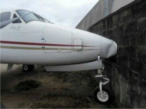 Plane crashes into fence at Lagos airport