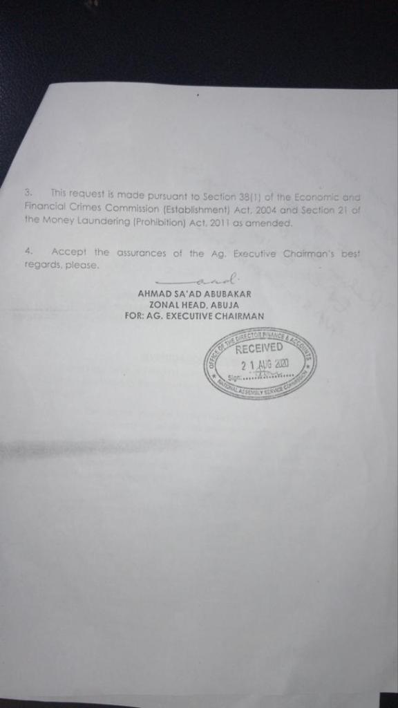 EFCC & NASC documents