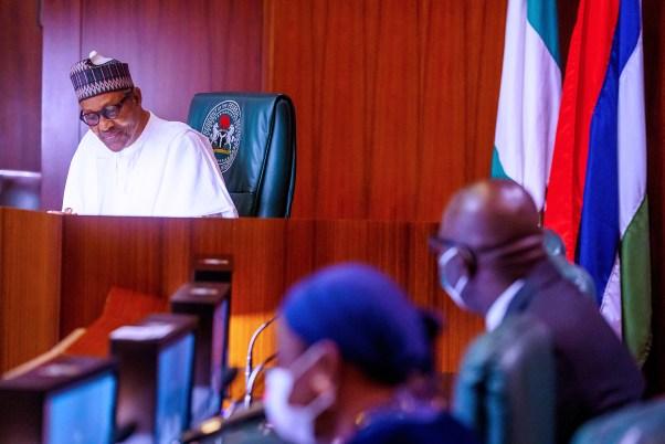 Obaseki in a courtesy visit to Buhari. 25th September 2020.