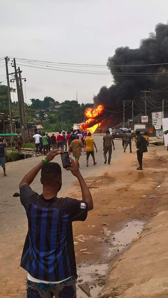 BREAKING: Massive explosion rocks Ajuwon Iju-ishaga, Lagos