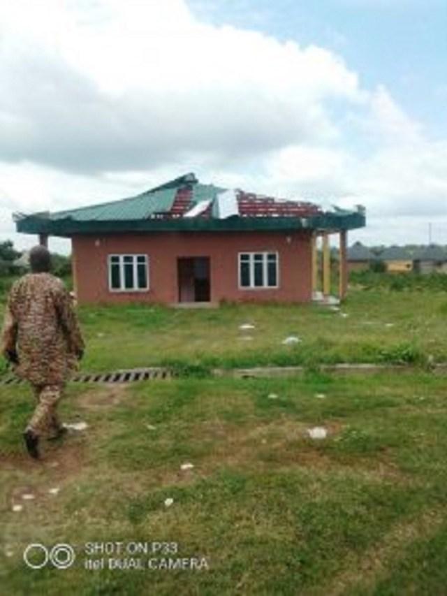 Rainstorm damages INEC office roof in Kwara