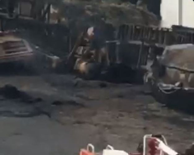 [VIDEO] Anthony Tanker Explosion: Another fuel-laden tanker falls same spot at Gbagada Expressway, Lagos