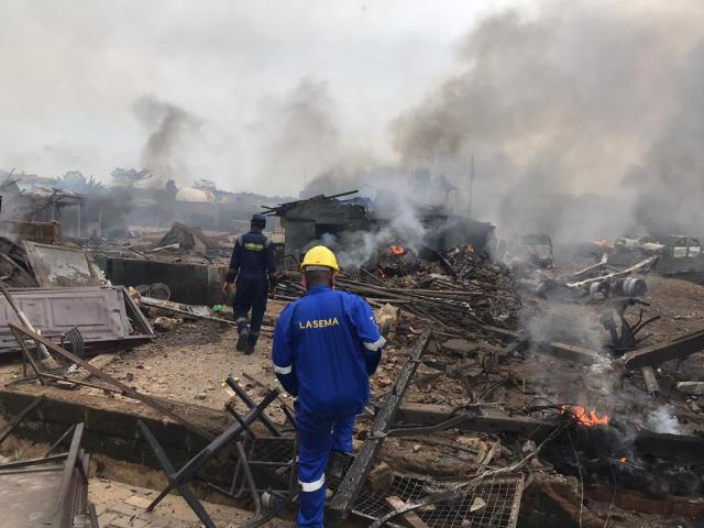 UPDATE: Several persons injured, vehicles burnt in gas explosion in Lagos
