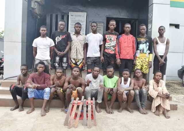 Police nab 17 over robbery, hooliganism in Lagos