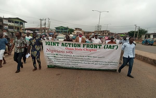 Fuel price/Electricity tariff hike: civil society protest in Osun