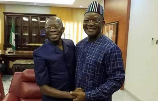 N10bn Libel Suit: Ortom, Oshiomhole head for out-of-court settlement