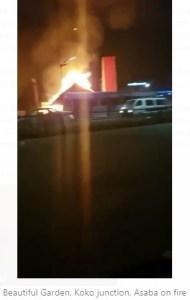 BREAKING: Beautiful Garden, Koko Junction, Asaba on fire