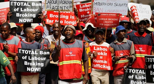 South African labour federation calls strike to protest poor economy, corruption