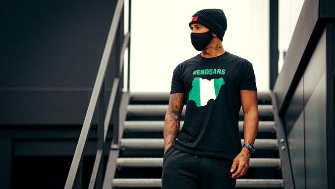 Formula 1 great Lewis Hamilton lends voice to #EndSARS campaign
