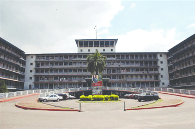 Front view of University College Hospital Ibadan Nigerias premier tertiary hospital
