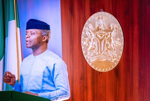 VP Osinbajo to Stakeholders, FG to do more as survival fund Esp improves economy