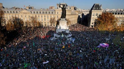 Tens of thousands protest in France against controversial police law
