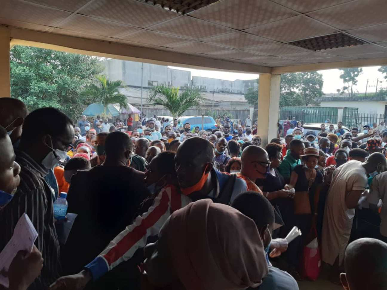 NIN: Mammoth crowd storms NIMC office at Alausa over fear of SIM apocalypse