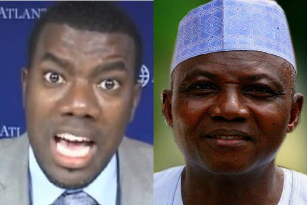 Reno Omokri offers to gift Garba Shehu $20,000 if he accepts to spend a night without security in Koshobe Borno State