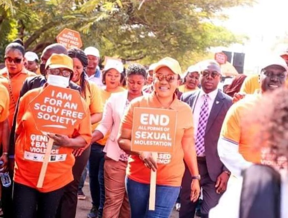 Mrs Ortom leads walk against Gender-Based Violence in Benue