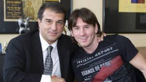 Messi will do everything in his power to stay at Barcelona ― Laporta