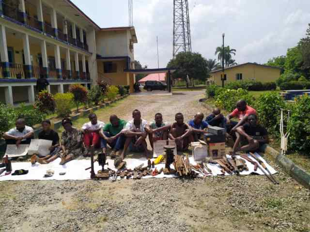 Police parade 80 year old suspected child trafficker, illegal arms dealers in C'River