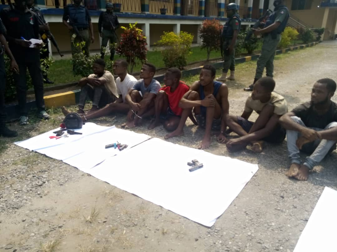 Police parade 10 for Kidnapping, robbery in Calabar