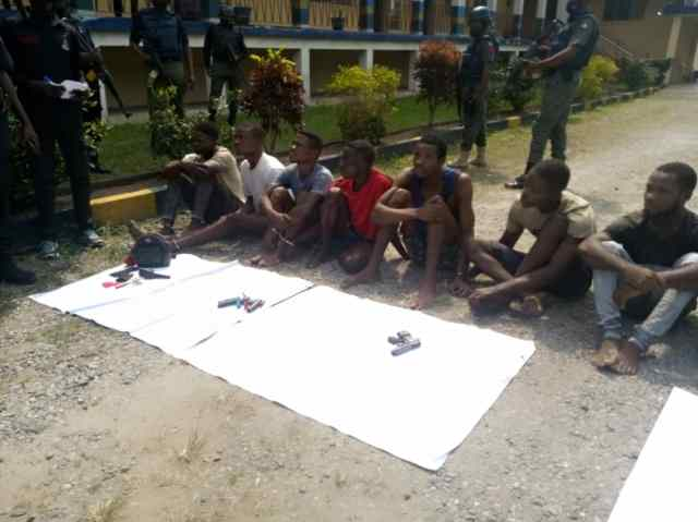 Police parade 10 for Kidnapping,robbery in Calabar