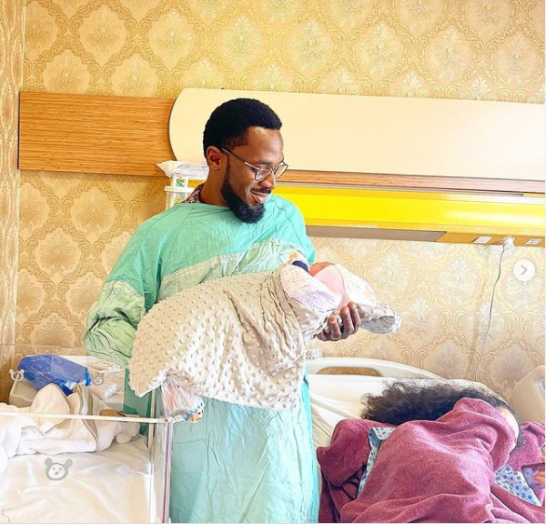 D'banj announces birth of baby girl with wife