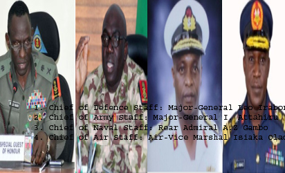Service Chiefs resign with immediate effect, Buhari appoints replacements