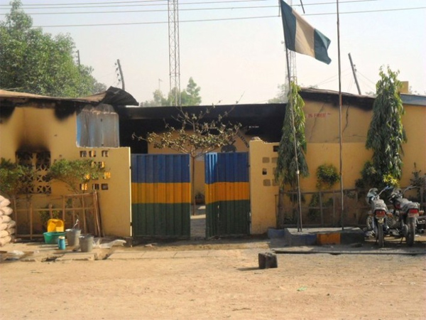 BREAKING: Suspected hoodlums set police station ablaze in Imo