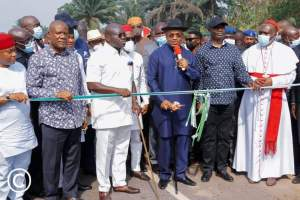 Kinetic Abia: Ikpeazu commissions road in Abia with Udom Emmanuel