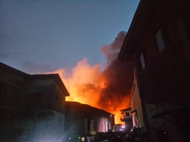 BREAKING: Iddo railway terminal on fire