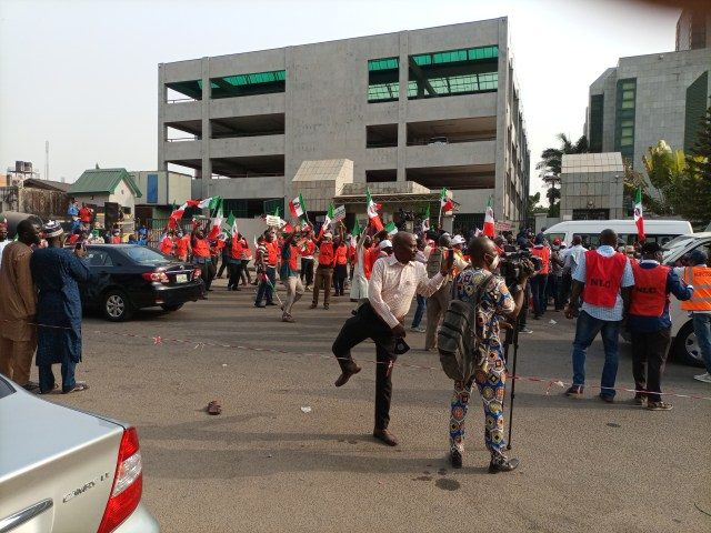 BREAKING: NLC pickets Corporate Affairs Commission over alleged unfriendly policies