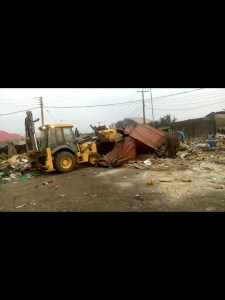 CRSG demolishes over 200 illegal structures at market in Calabar