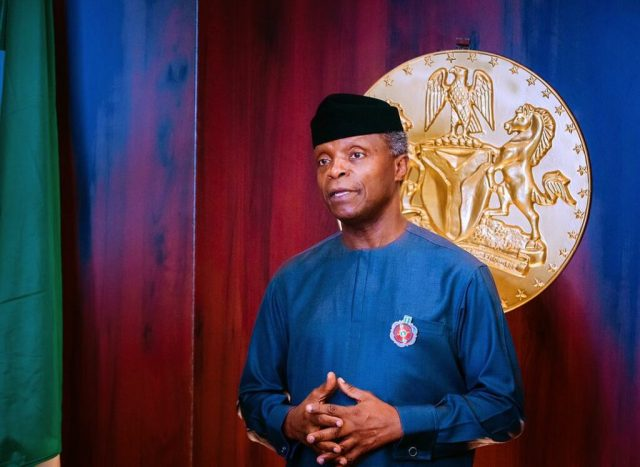 Osinbajo to US: Support just transition to near-zero emissions, global access to COVID-19 vaccine