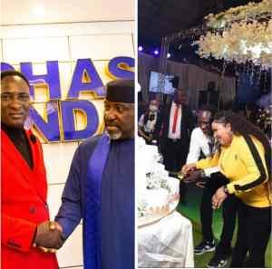 Rochas Okorocha celebrates Prophet Jeremiah Omoto Fufeyin @50