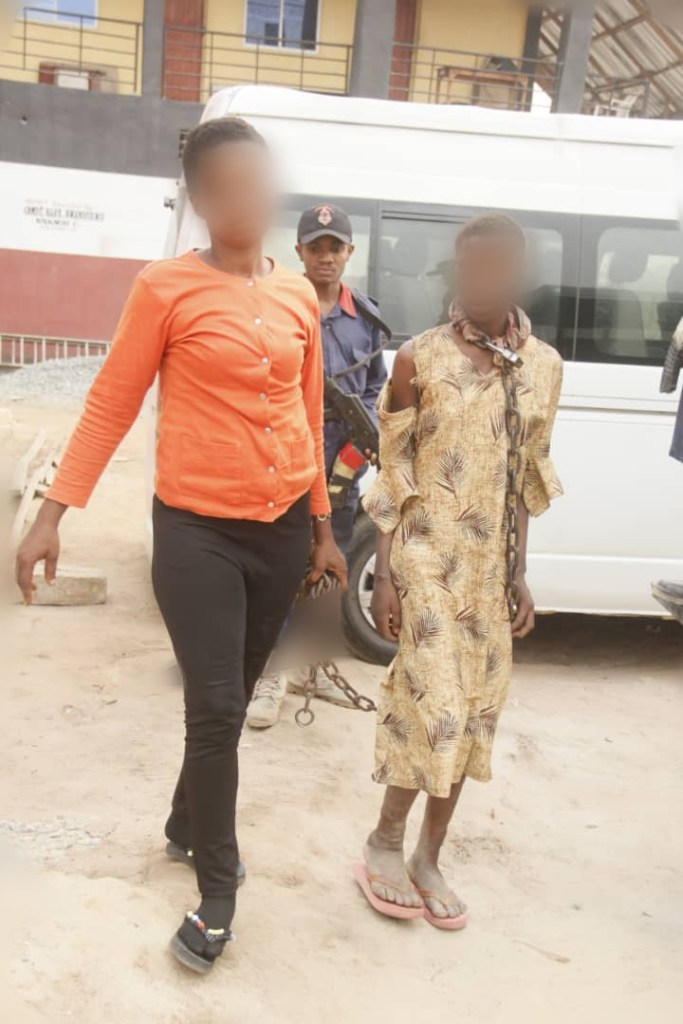 NSCDC rescues Abia girl chained by the neck by mother