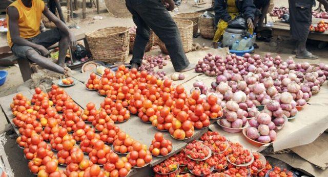 Tomato and onion price