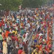 Huge crowds at India's Kumbh festival as coronavirus pandemic surges