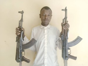 I obtain guns to fight bandit who snatched my wife - Suspected kidnapper