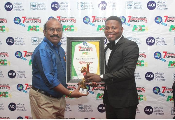 Polystar electronics emerges Africa's quality electronics company of the  decade