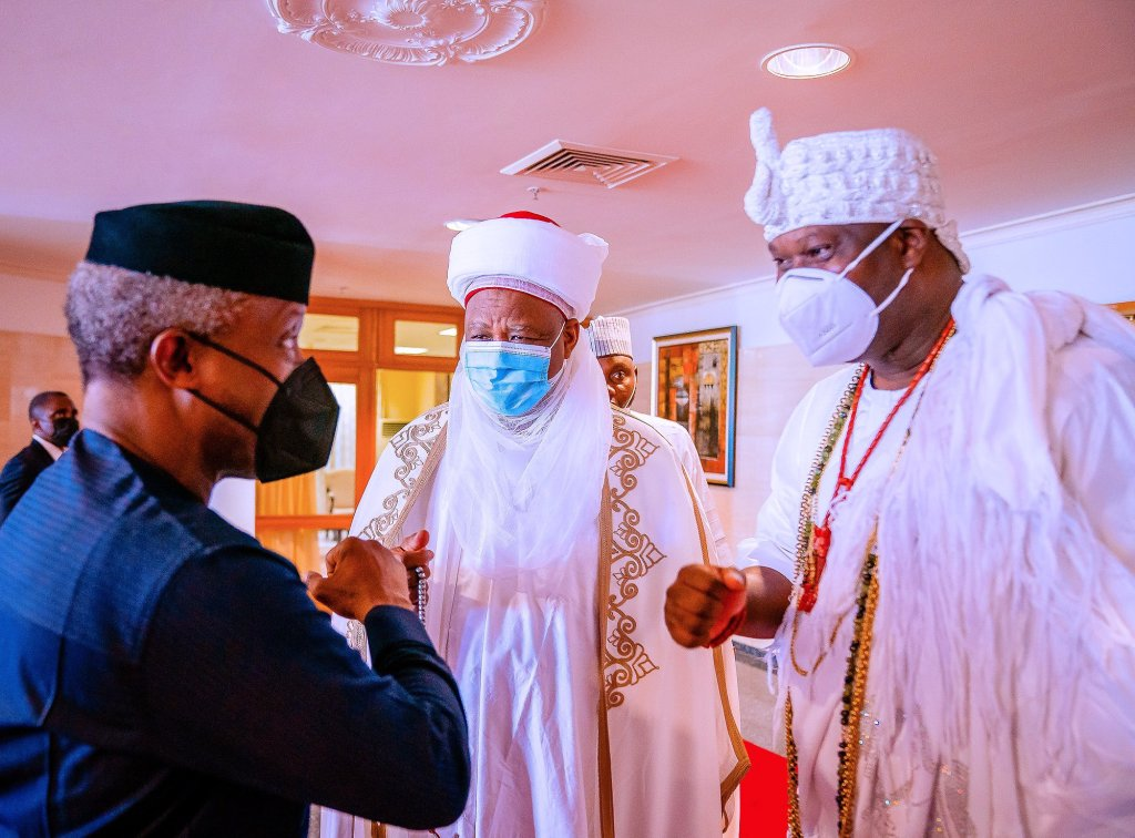 Osinbajo, Sultan, Tinubu, Ooni, others urge Nigerians to shun divisive moves