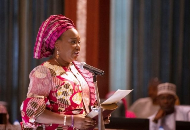 Yemi Esan taking oath of office