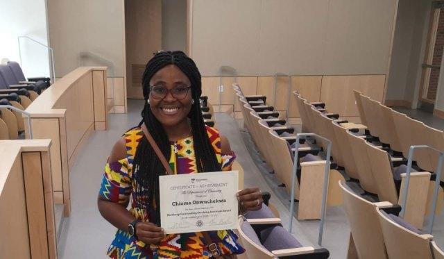 Nigerian is first international recipient of Northrup award in US