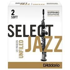 D'Addario Unfiled Select Jazz Soprano Reeds