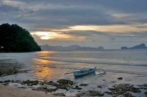 LAS CABANAS RESORT – PALAWAN, PHILIPPINES - A beautiful sunset at a beautiful resort