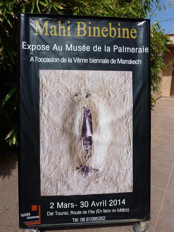 De tentoonstelling van Mahi Binebine (*1959) in musée de la Palmeraie in Marrakesh is een bezoek meer dan waard! (2 maart - 30 april 2014).