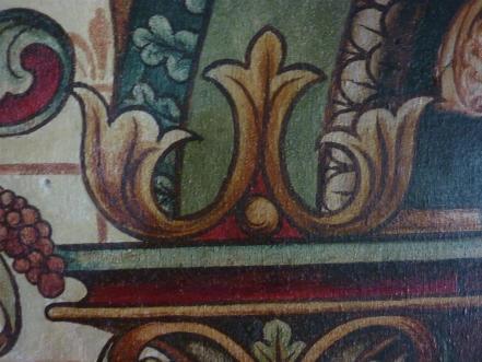 Detail van de troonnis van David in de Clemenskerk te Merkelbeek.