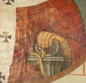 Clemens in de Legenda aurea: het anker. Dom Romanus Jacobs, 1901, Merkelbeek.