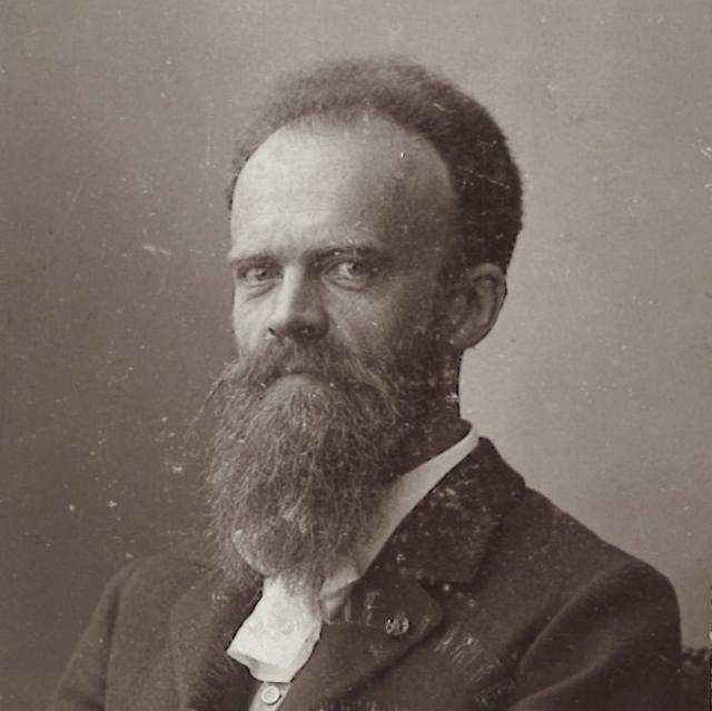 Portretfoto op de deelnemerskaart van Joseph Cuypers voor de wereldtentoonstelling in Brussel in 1910. Herkomst en repro GAR, Joseph Cuypers Collectie.