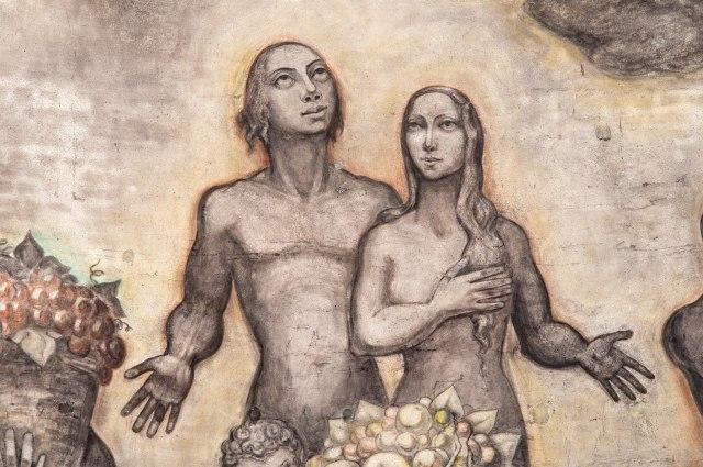 Jos ten Horn, Detail van Adam en Eva, Goirkese kerk Tilburg.