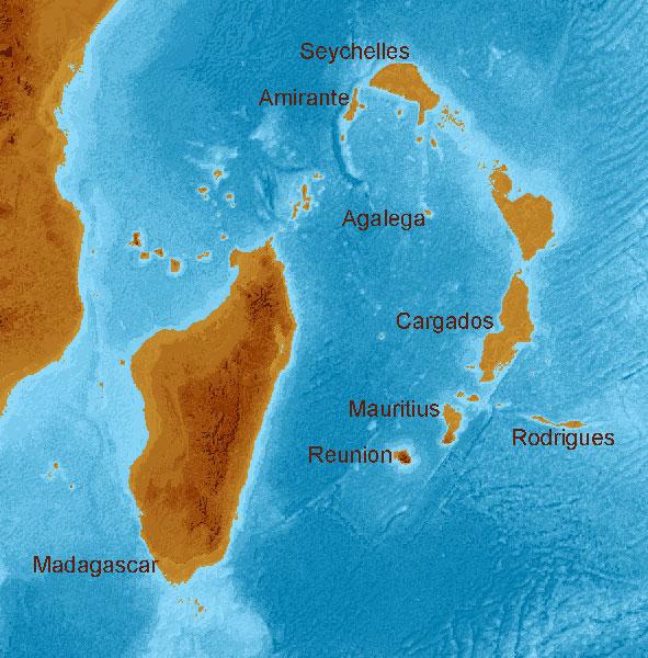 The Lost Pleistocene World Of The Seychelles Islands - Map of seychelles world